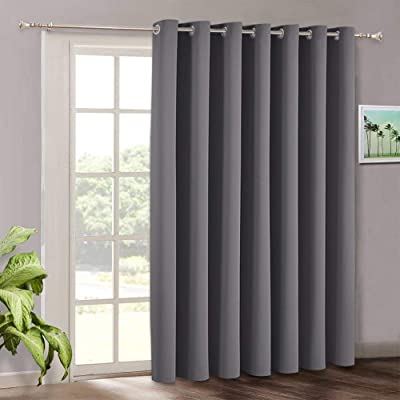 Buy Blackout Patio Door Curtains Bedroom Home Decor Grommet Curtain Thermal Insulated Vertical Blind Window Treatment Drapes For Living Room Sliding Glass Door Wide 100 X Long 84 Inch Grey Online