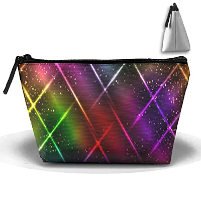 A Shooting Star Colorful Portable Pouch Waterproof Trapezoidal Storage Bag