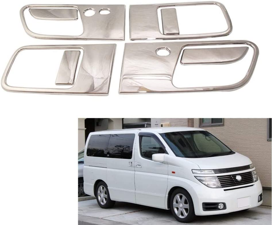 KWWBLX For Nissan Elgrand E51 2002 2010 8PCS Abs Chrome plated Door Handle Bowl Covers Trim Car Accessories