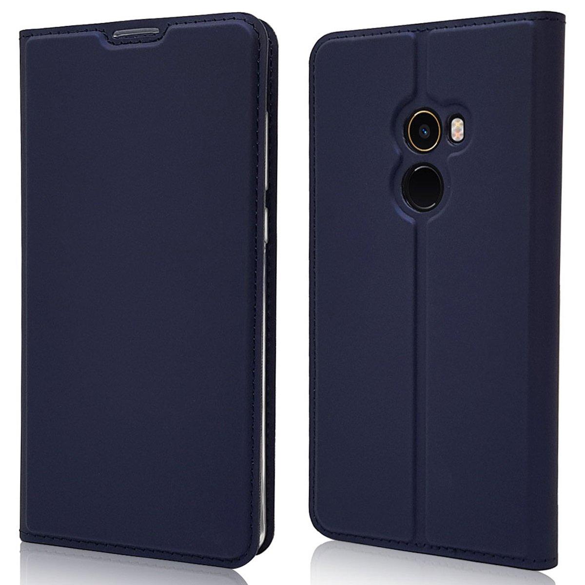 sinogoods para Xiaomi Mi Mix 2 Funda Negro Cuero De La PU Magn/ético Capirotazo Billetera Apoyo Bumper Protector Cover Funda Carcasa Case