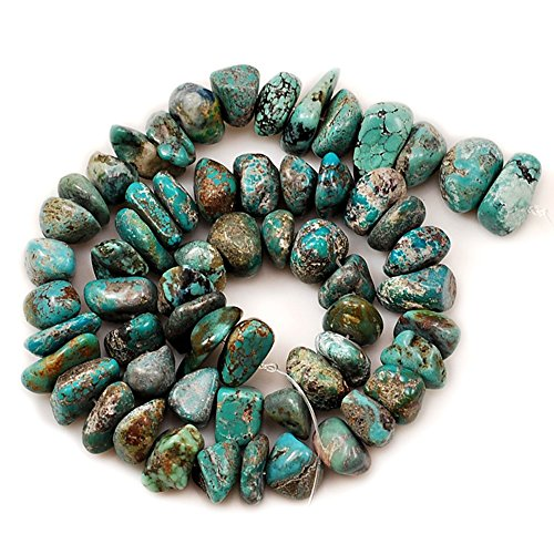 01 Blue Hubei Turquoise Nugget 10x9x3mm-14x10x8mm for Necklace Gemstone Loose Beads 15