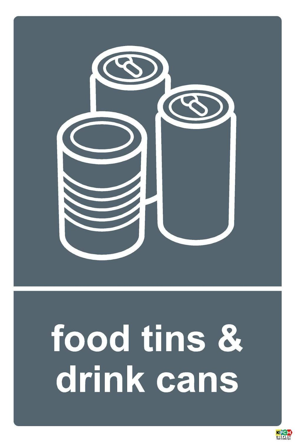 Recycling bin sticker Food Tins & Drink Cans - Self Adhesive Label