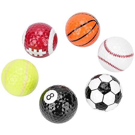 Mootea Pelota de Golf, 6 Piezas Baloncesto Fútbol Voleibol ...