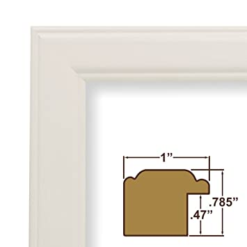 22x34 picture poster frame smooth wood grain finish 1 wide white