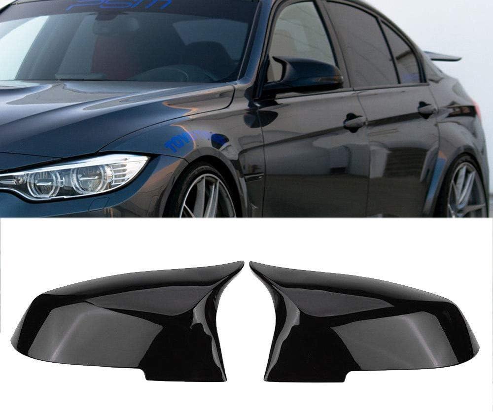 1 Paire de Capuchons de r/étroviseur de Voiture en ABS de qualit/é sup/érieure pour BMW S/érie 3 F30 F34 F31 /& ‿1 Series F20 /& ‿2 Series F22 /& ‿4 Series F32 F33 F36 F87 M2 X1 Series E84 Noir