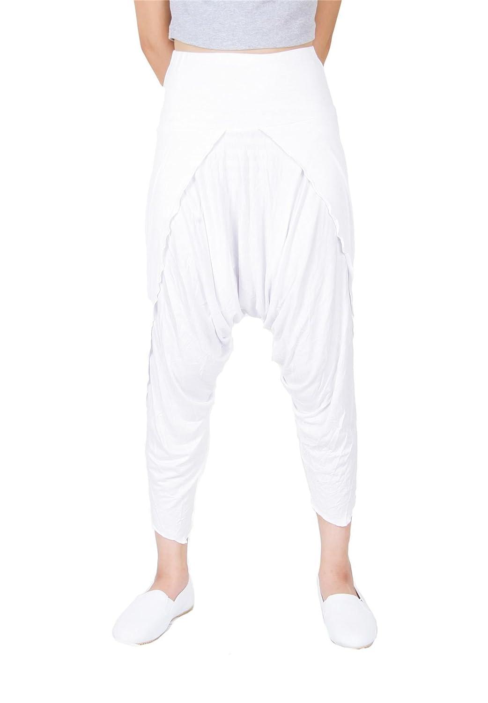 Lofbaz Donne Hybrid Capri 3//4 Long Stile di Pantaloni da Yoga Pilates Sportivi Harem da Yoga