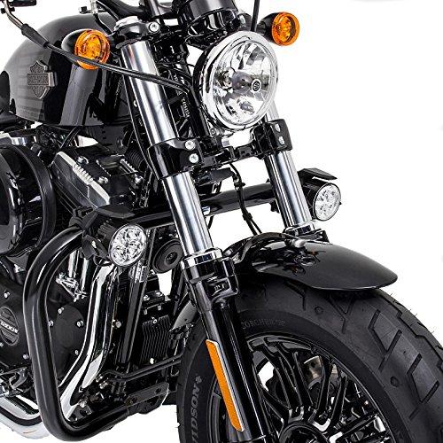 Kabelbaum Motorrad Zusatzscheinwerfer ZS2 Victory Hammer//S LED E-Zulassung Lumitecs 12V//24V inkl