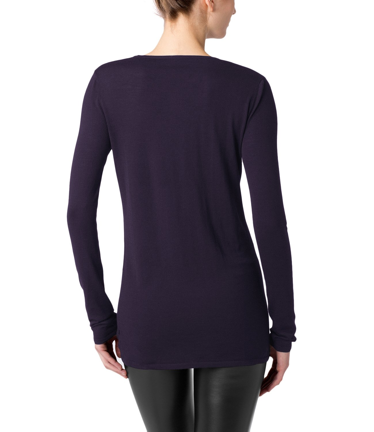 Wolford Fine Merino Pullover Crew Neck Women's Top Nightshade L by Wolford (Image #2)