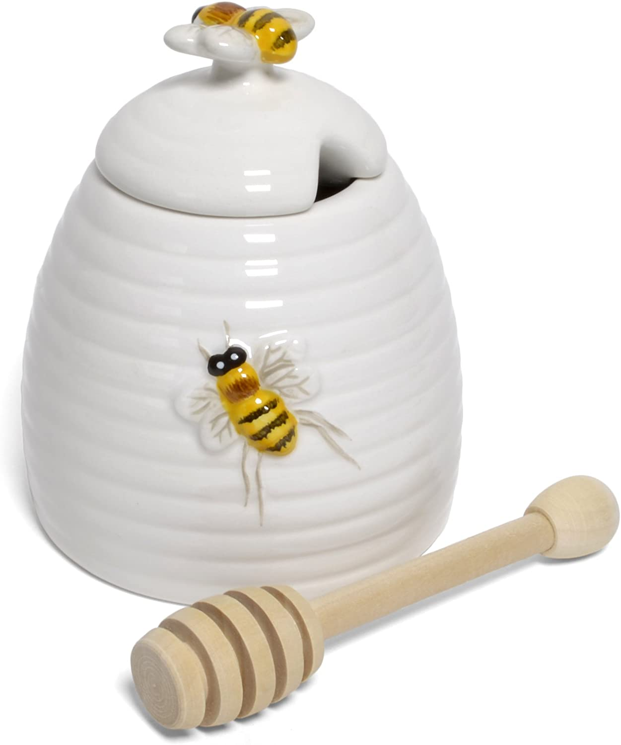 Mary Lake-Thompson Ceramic Beehive Honey Pot with Dipper