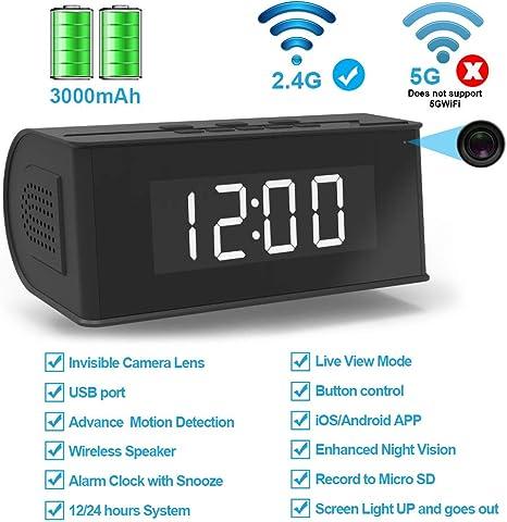 Amazon.com: FUVISION - Reloj despertador inalámbrico con ...