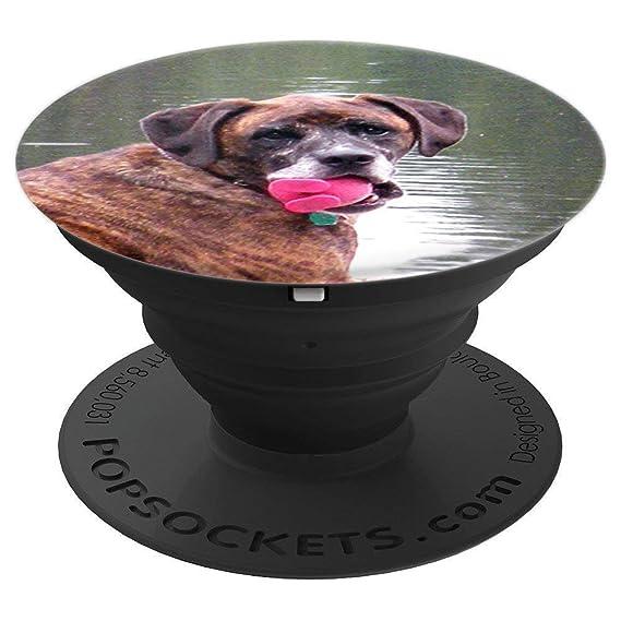 Amazon com: Dog Mom Brindle Dog Picture of Plot Hound - PopSockets