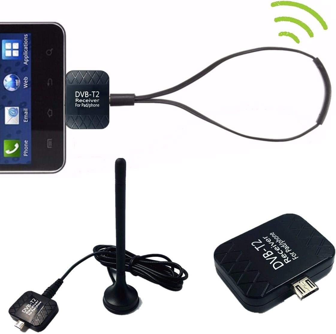 Micro USB DVB-T2 DTV Link USB Digital TV Receiver Tuner ...