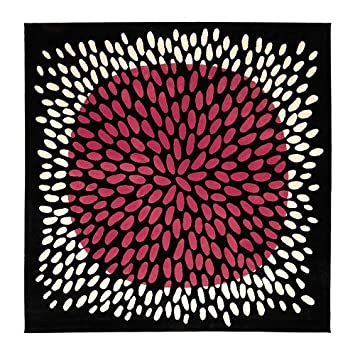 Ikea Tradklover 6 7 Square Area Rug Carpet Black Pink White