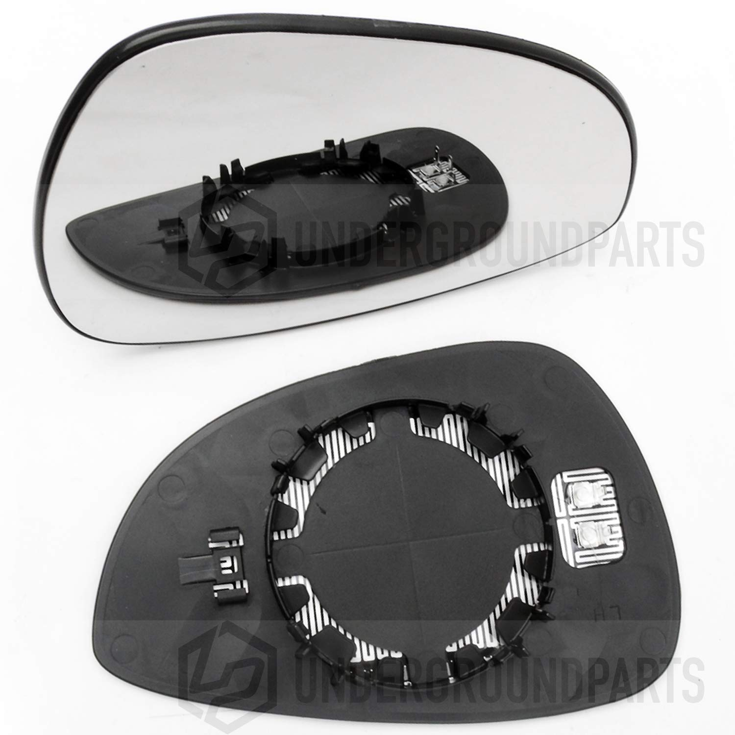 Underground Parts mk7 Replacement Door Wing Mirror Glass Heated Left Nearside Passenger Side