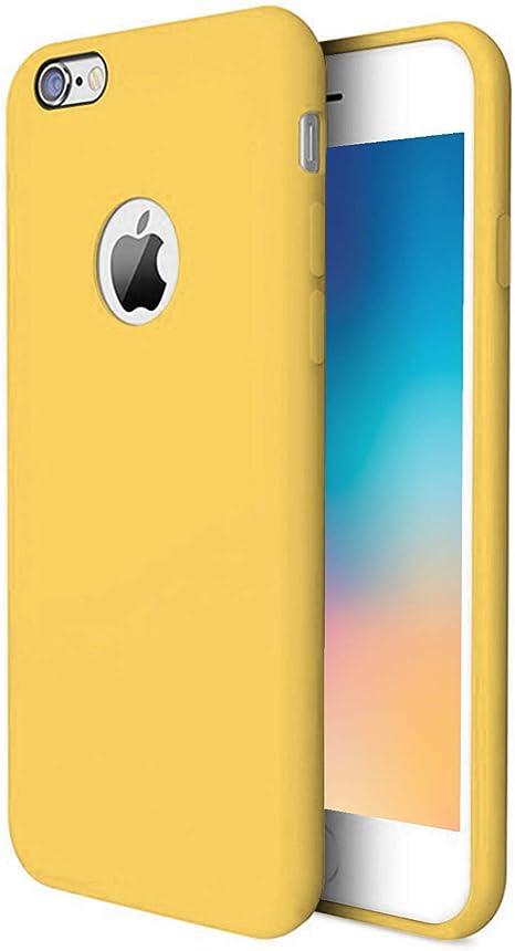 cover iphone 8 silicone gialla