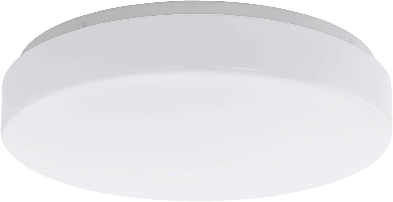 EGLO 200908A Beramo LED Ceiling Mount, 15-Inch, White