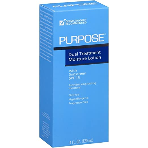 PURPOSE Dual Treatment Moisture Lotion, SPF 10 4 oz (Pack of 10)