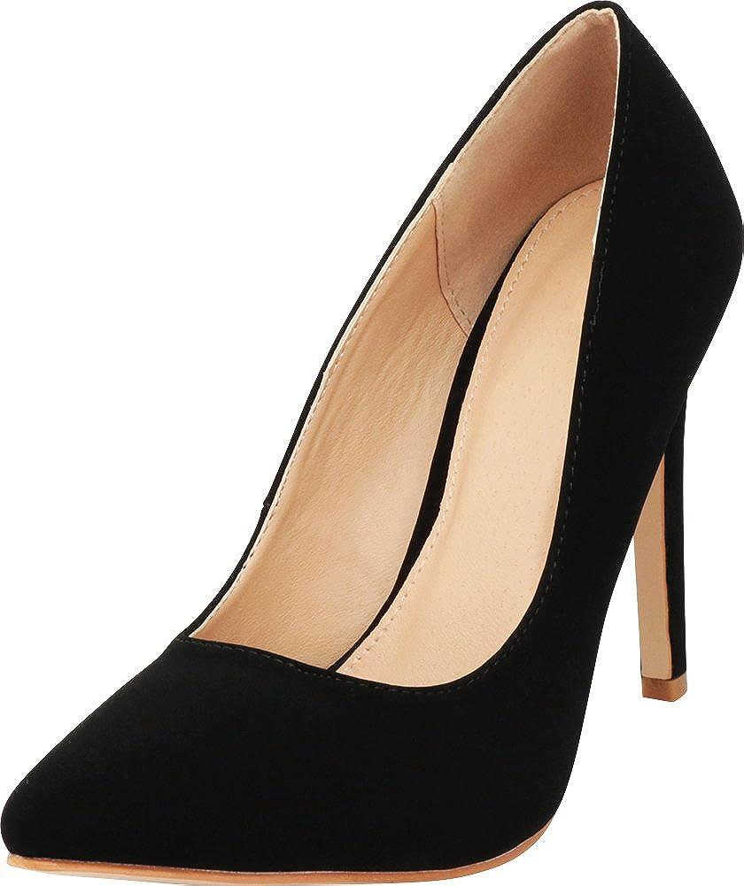 Black Nbpu Cambridge Select Women's Classic Closed Pointed Toe Slip-On Stiletto High Heel Dress Pump