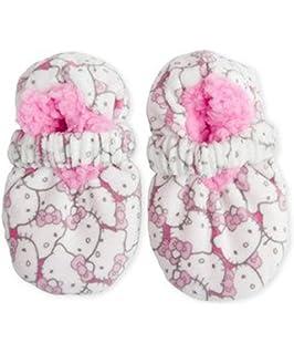 e49f8ba63 Amazon.com: 2 Pair Assorted Hello Kitty Fuzzy Slipper Socks (Size 6 ...