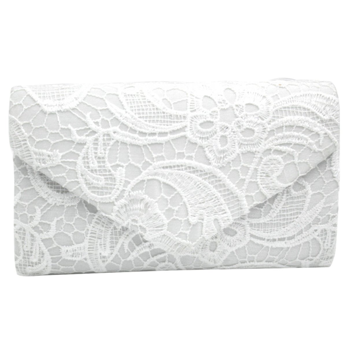 Sasairy Ladies Evening Bag Floral Lace Envelope Clutch Party Prom Purse Handbag