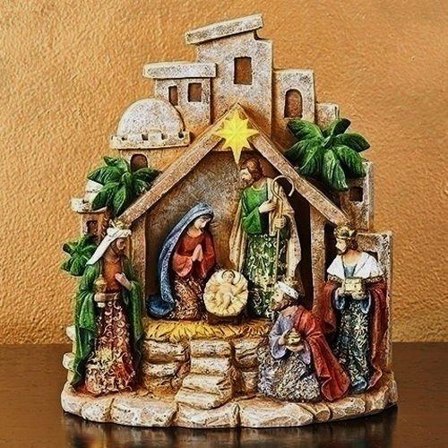 Collection Bethlehem Nativity (Kensington Row Christmas Collection CHRISTMAS DECORATIONS -LITTLE TOWN OF BETHLEHEM LIGHTED NATIVITY - HOLIDAY FIGURINE)