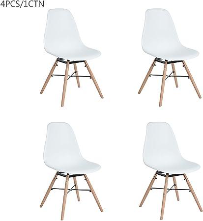 Furnish1 Lot de 4 Chaises de Style scandinave avec Assise et