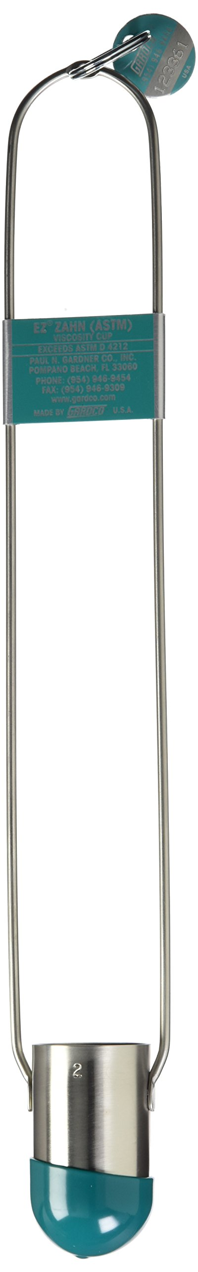 Gardco EZ2 Stainless Steel Calibrated EZ Viscosity Cup for Viscometer, Size No. 2 by Gardco
