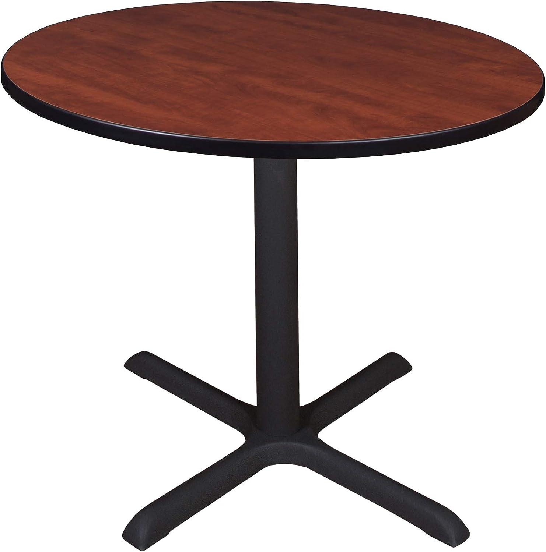 """Regency Cali Round Breakroom Table, 36"""", Sangria"""