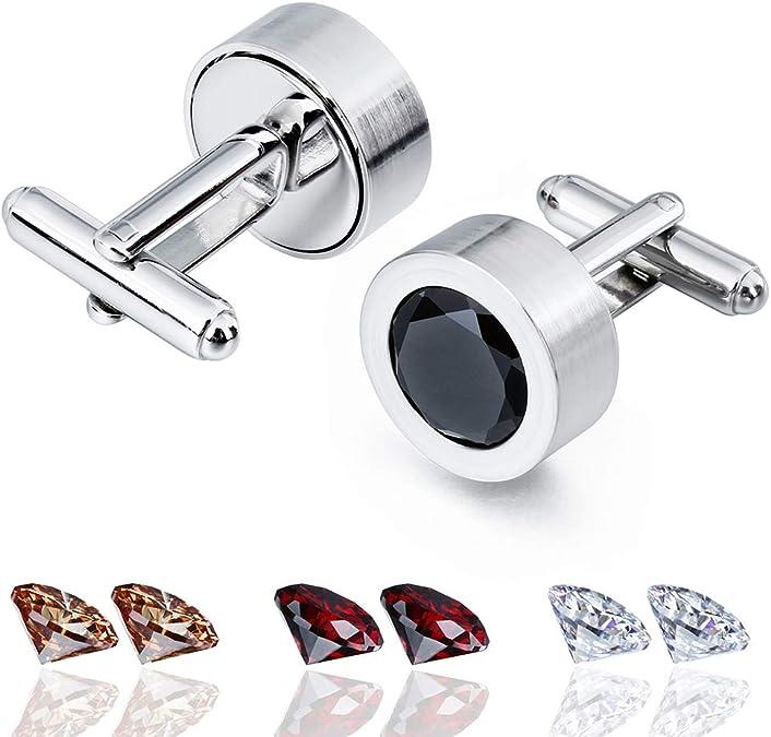 NEW Jewelry Amber Silver Shirt Wedding Party Shirt Cufflinks Novelty Cuff Links