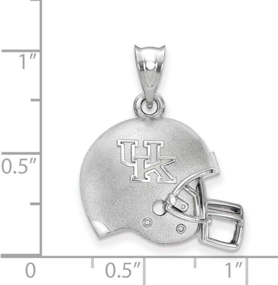 22mm x 20mm Solid 925 Sterling Silver Official Auburn University 3D Football helmet Logo Pendant Charm