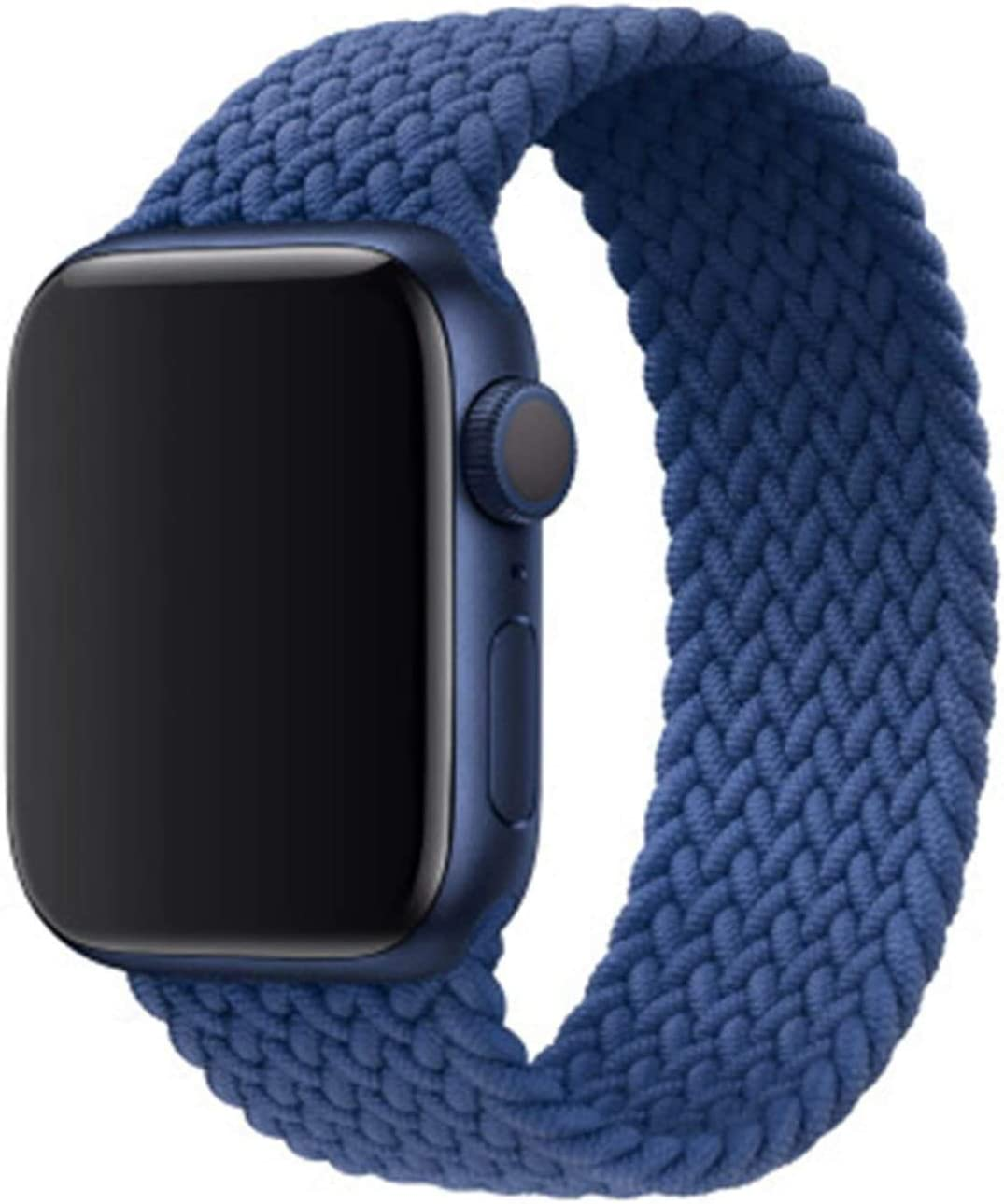 Yipintang Stretchy Braided Solo Loop Bands Compatible for Apple Watch 44mm 42mm, Stretch Braided Sport Elastics Weave Velcro Men Lightweight Strap Compatible for iWatch Series 6/5/4/3/2/1 SE XLarge