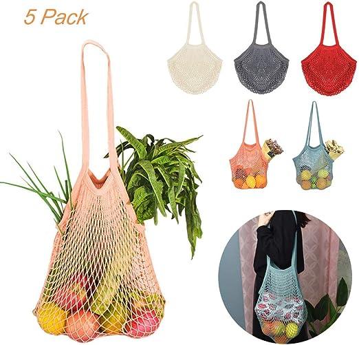 Bolsas de Malla de Algodón Lavables y Transpirables para Frutas ...