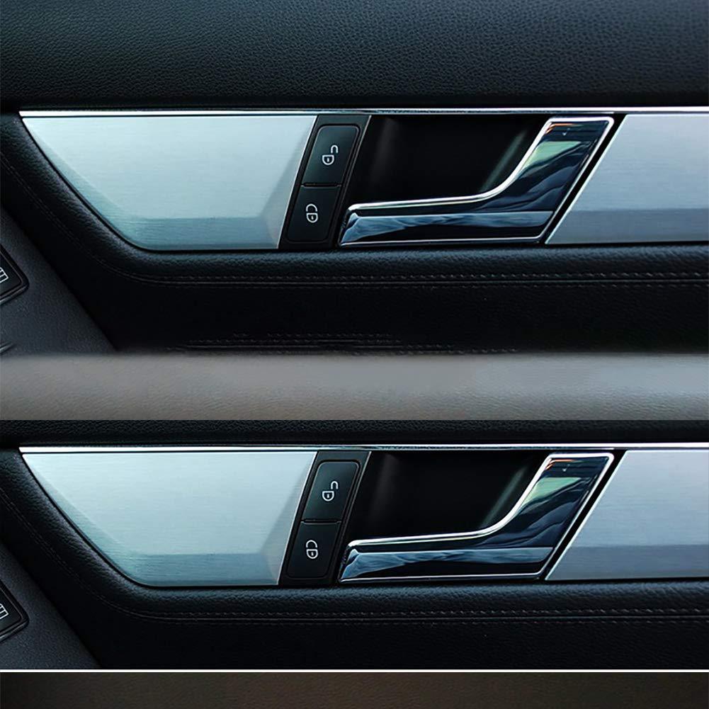 TXYFYP 2047201171 Maniglia della Portiera Interna Cromata Argento Destra e Sinistra per Mercedes W204,per W204 Classe C 2008-2014