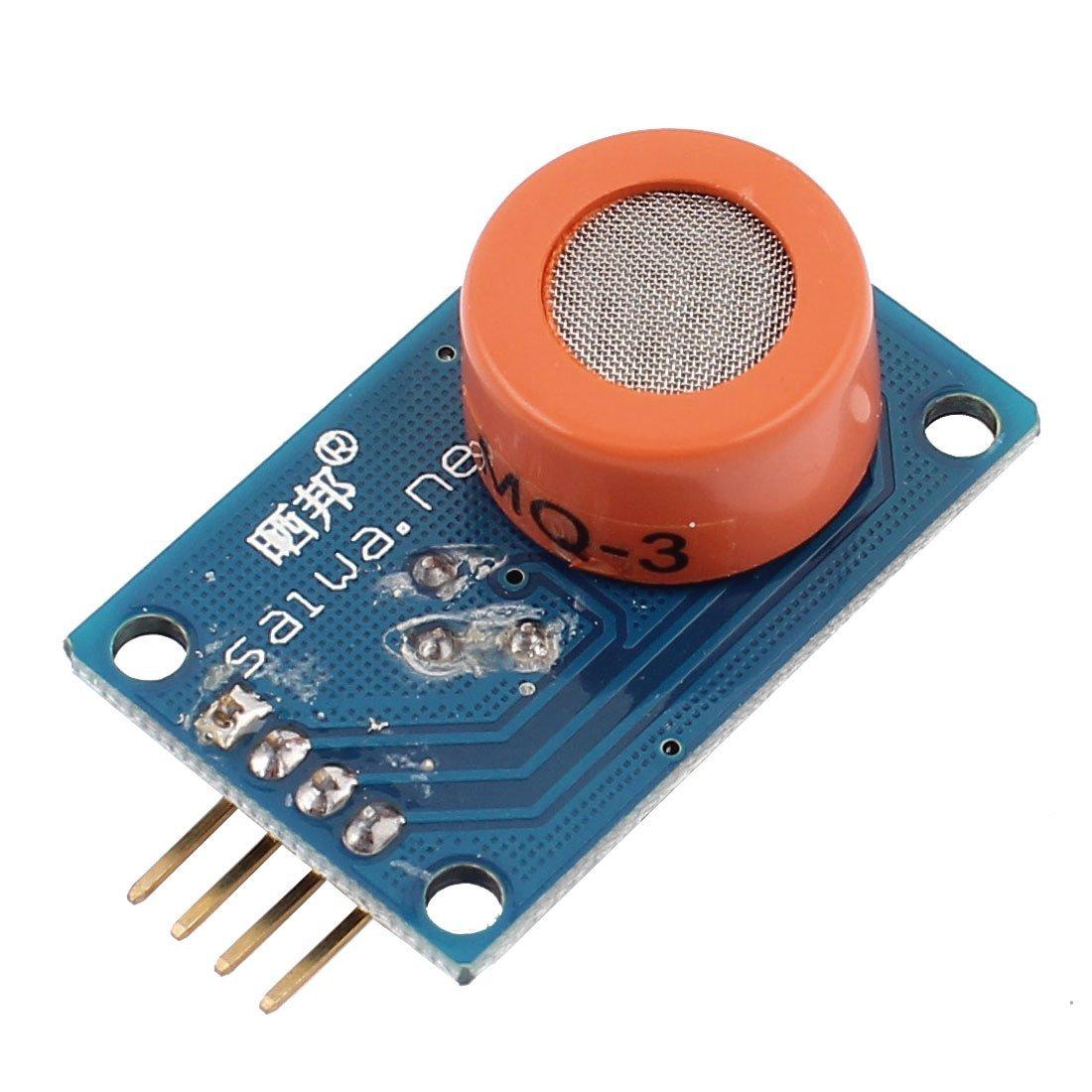 CC 3-5V 10-1000ppm 4-Pin Módulo detector sensor de alcohol gas MQ-3: Amazon.es: Industria, empresas y ciencia