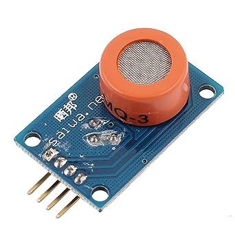 CC 3-5V 10-1000ppm 4-Pin Módulo detector sensor de alcohol gas