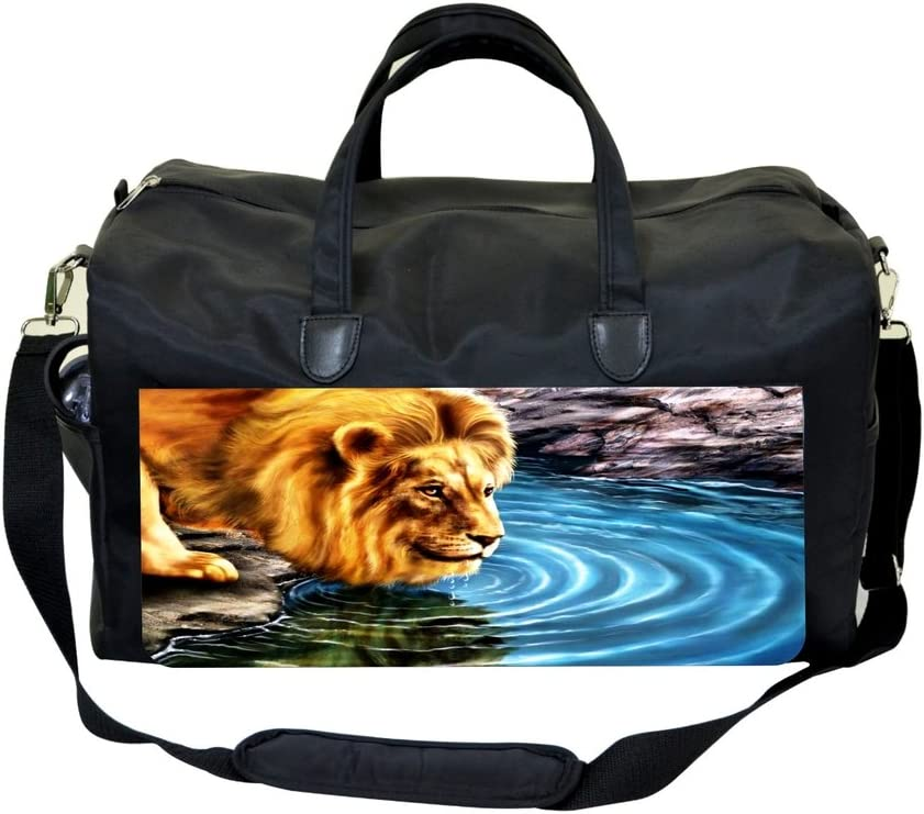 Lion-Water Reflection Painting Print Design Weekender Bag