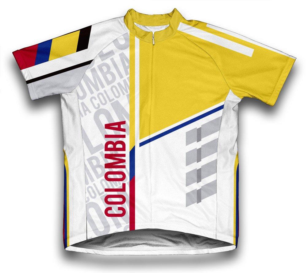 ScudoPro Colombia Radsport Trikot mit kurzer Ärmel für Menner