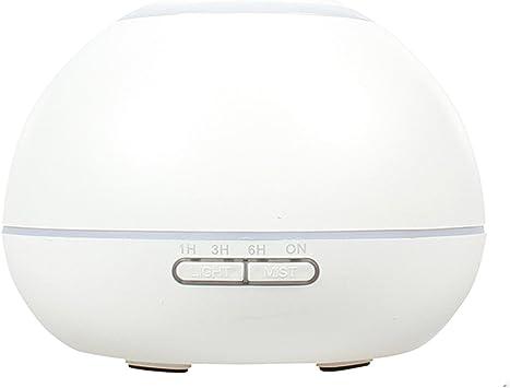 GX Diffuser Difusor Aromas Ultrasonico Humidificador de Aire Purificador Aromaterapia con 7 Colores Noche Luz y Temporizador Blanco: Amazon.es: Salud y cuidado personal