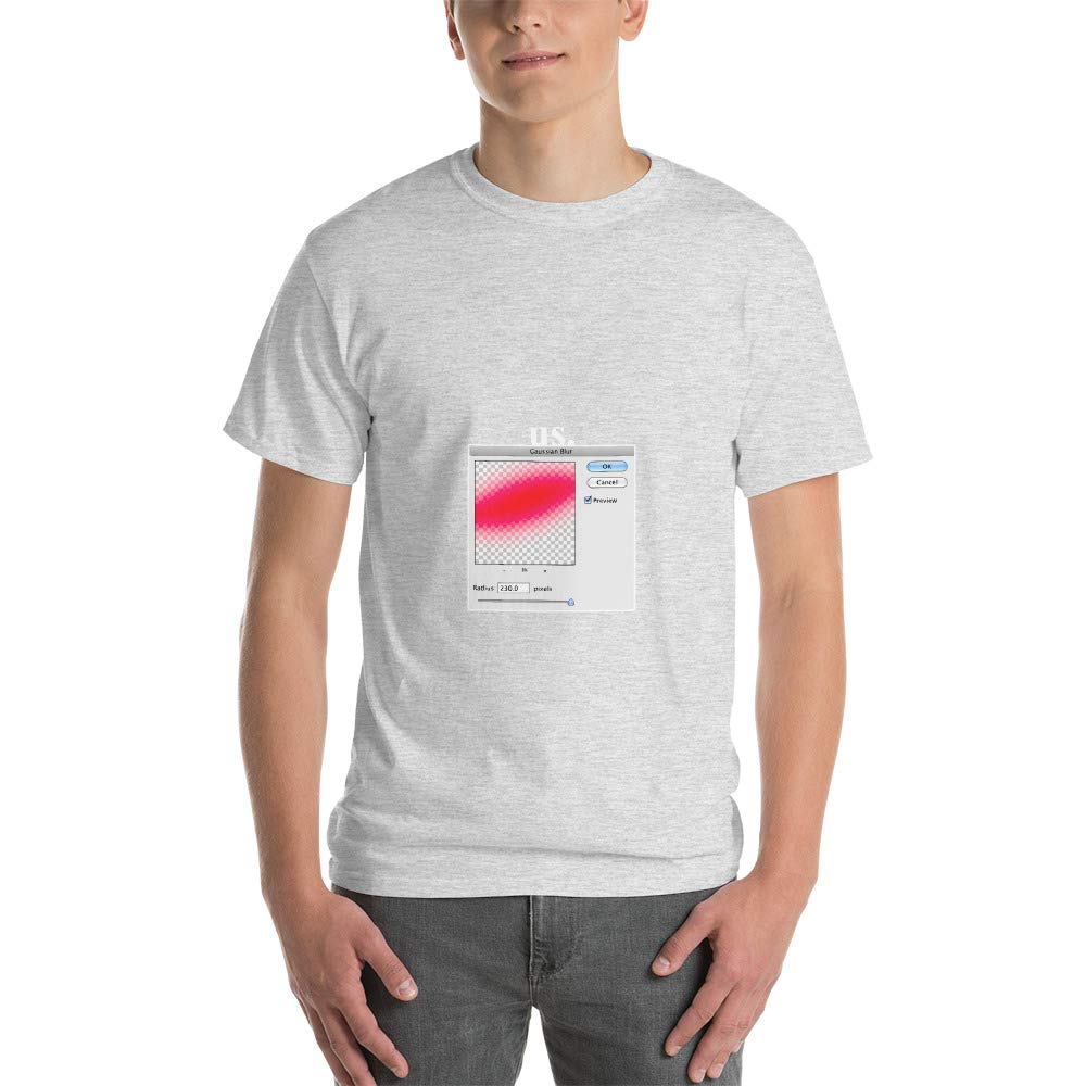 Spicy Cold Apparel Mens Ultra 100/% Cotton Short Sleeve T-Shirt Gaussian Blur Create a Displacement Map 2000