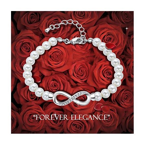 Forever Elegance White Pearl Bracelet