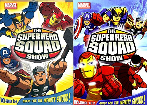 Marvel Super Hero Squad Volumes 1/2/3/4 Show : Quest for the Infinity Sword V. 1 & 2 + 3 & 4 - The Animated Television Series