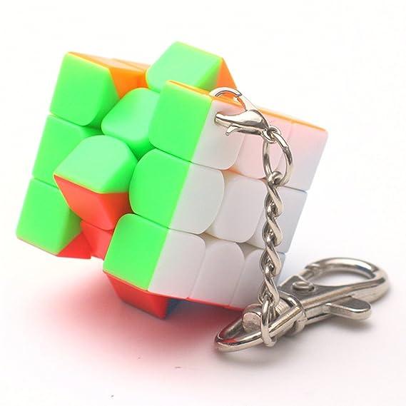 3 cm Mini Pequeño 3x3 Cubo Mágico Llavero Elegante Cubo de ...
