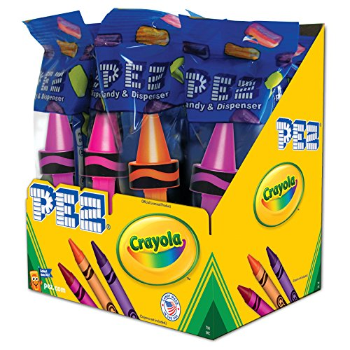 PEZ Candy Crayola Assortment, 1.25 Pound