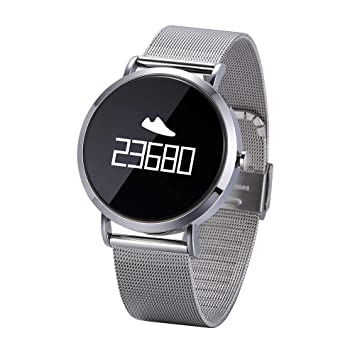 Cebbay Reloj Inteligente Pulsómetro Pulsera Actividad Inteligente para Deporte Monitor de sueño,Podómetro,Calendario,Control Remoto de música: Amazon.es: ...