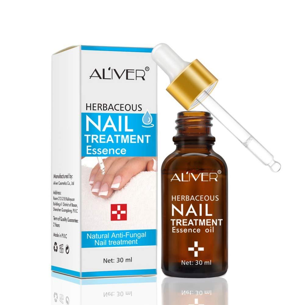 allbesta Herb Nail Fungus Treatment Serum Anti fungal Solution dedo Toe Nails Care 30ml