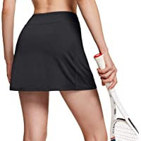ATHLIO Women's Athletic Skorts Lightweight Active Tennis Skirts, Workout Running Golf Skirt with Pockets Built-in Shorts