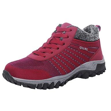 POLP Calzado Zapatos con Cordones Mujer Hombre Botines Zapatos Botas De Nieve Invierno Cortas Fur Aire Libre Boots Zapatos Invierno Botas Botas de Nieve ...