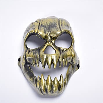 PromMask Mascara Facial Careta Protector de Cara dominó Frente Falso Halloween Fuego Unicornio Horror mueca Cabeza