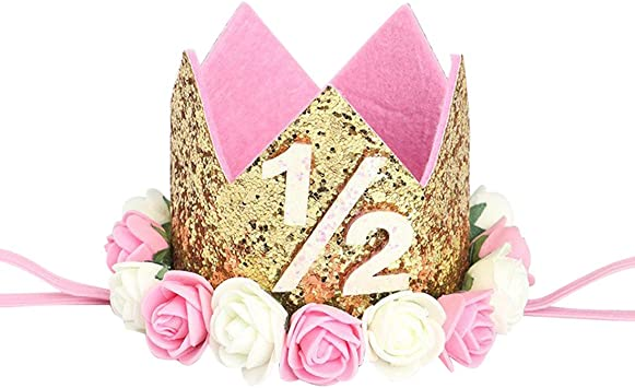 Amazon.com: KREATWOW - Corona de cumpleaños de 6 meses ...