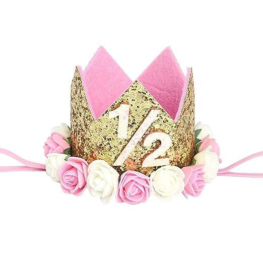 1/2 Corona de cumpleaños Suministros de cumpleaños de 6 ...